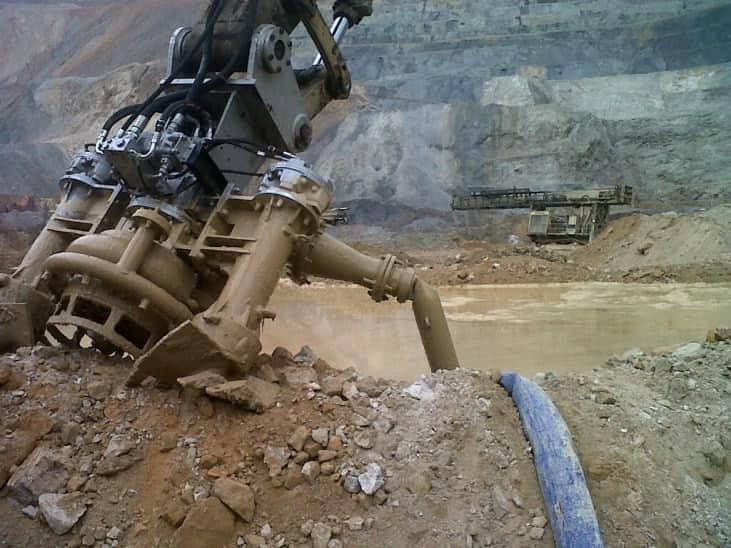 Open pit mine clean up